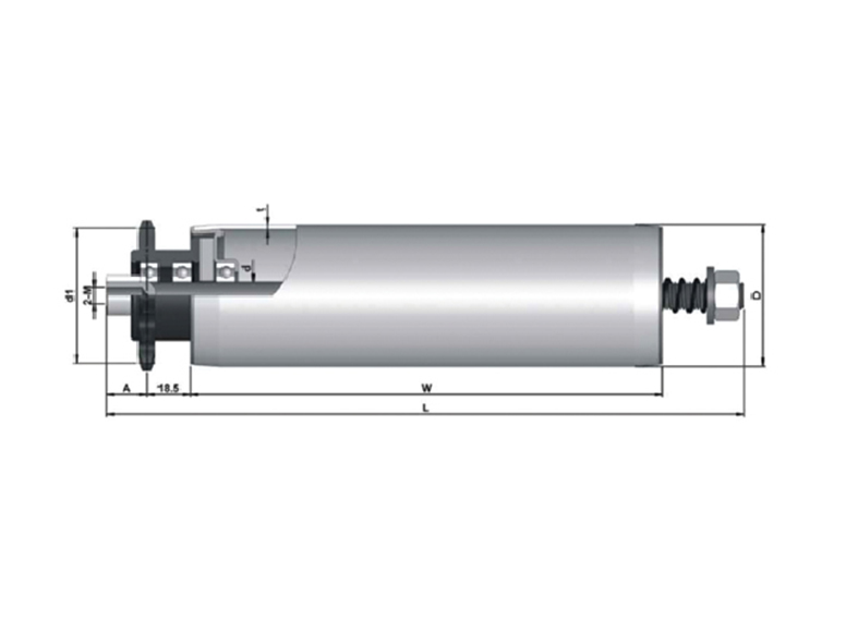 single row sprocket accumulation roller