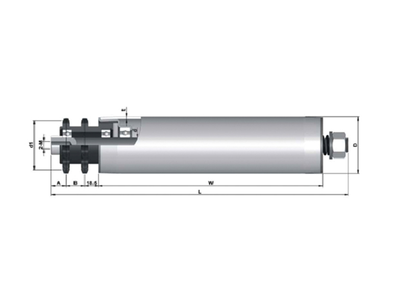 double row sprocket accumulation roller