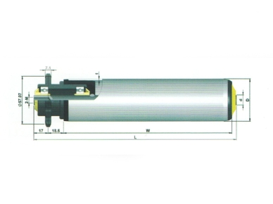 single row aprocket roller with plastic bearing house